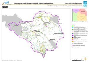 Carte : Typologies des zones humides photo-interprétées, Biotope.