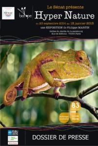 Affiche pour l'exposition Hyper Nature au Sénat, 2015. Biotope.